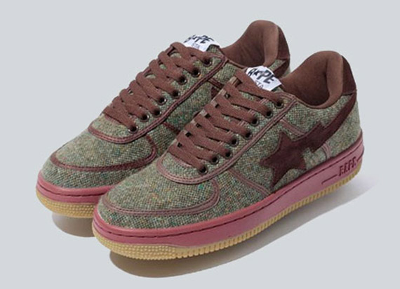 A Bathing Ape Donegal Tweed Bape Sta