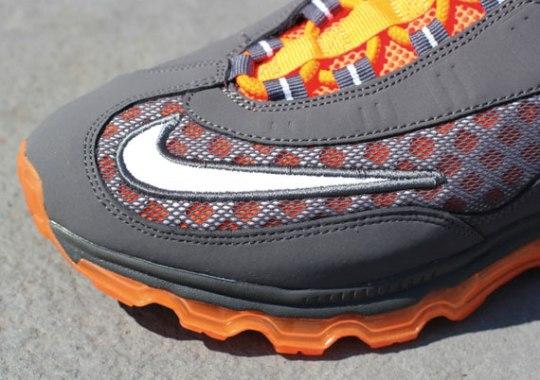 Nike Air Max JR – Dark Grey – White – Total Orange