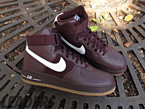 Nike Air Force 1 High - Deep Burgundy