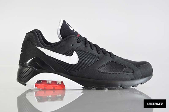 Nike Air 180 Black White Solar Red | New Images
