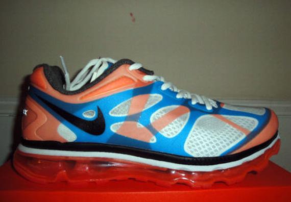 nike air max 2012 white blue orange sample on