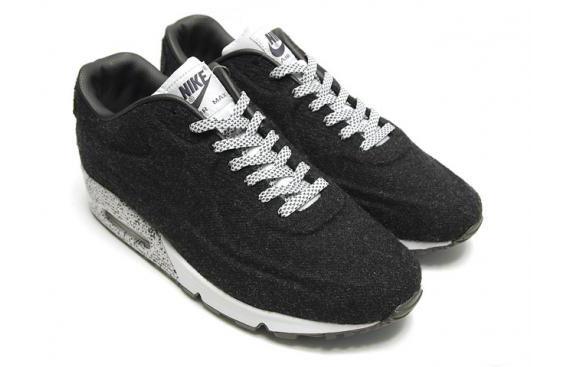 Nike Air Max 90 Chaussures Vt Couleur Minuit Brouillard / Poussière / Noir