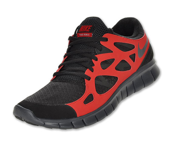 Nike Free Run+ 2 Black Anthracite Varsity Red