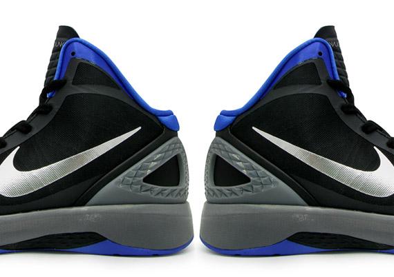 nike zoom hyperdunk 2011 black silver blue