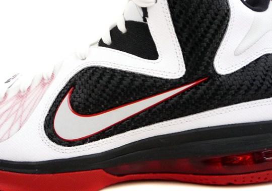 3736d425e03 Nike LeBron 9 – White – Black – Sport Red