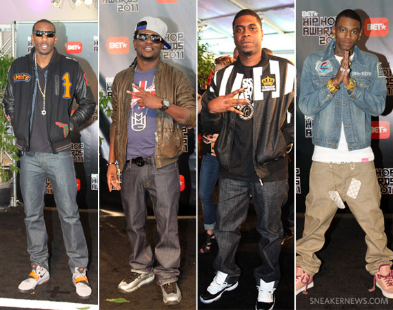 separation shoes 6d152 e8f03 Celebrity Feet  2011 B.E.T. Hip Hop Awards - SneakerNews.com