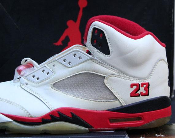 the best attitude 78c29 94903 Air Jordan V 'Fire Red' - OG Pair On eBay - SneakerNews.com