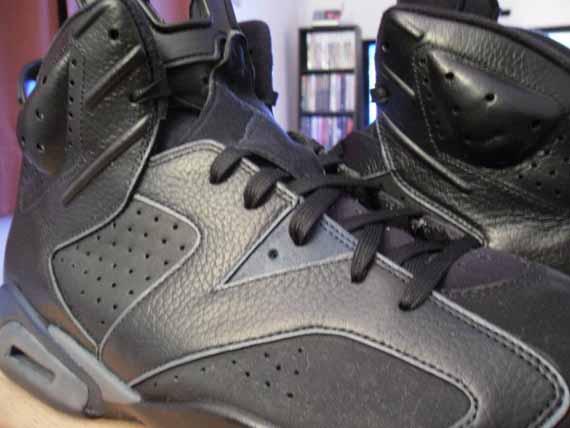 check out d9c59 fe820 Air Jordan VI 'Dark Knight' Customs - SneakerNews.com