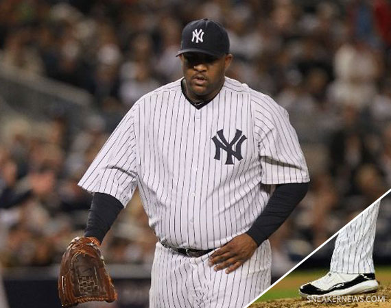 brand new 3ee1b 4c859 MLB Feet  C.C. Sabathia – Air Jordan XI Concord Cleats