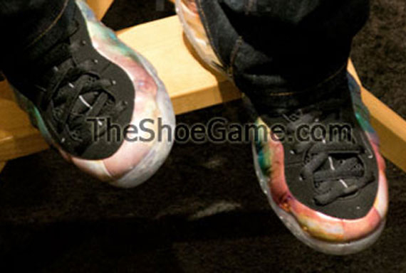 Nike Air Foamposite One Gone Fishing Detailed Sneaker ...