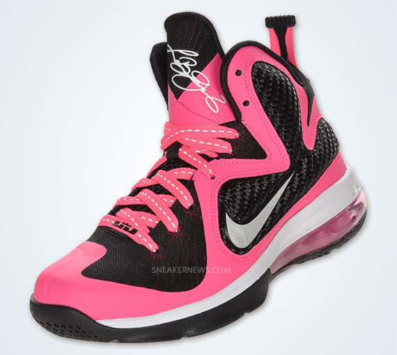 save off 4dbe5 f7ebe Nike LeBron 9 GS  Laser Pink  - SneakerNews.com