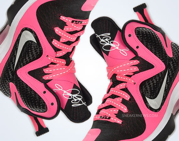 info for 67d23 49b9c Nike LeBron 9 GS  Laser Pink
