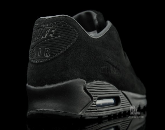 air max 90 all black suede