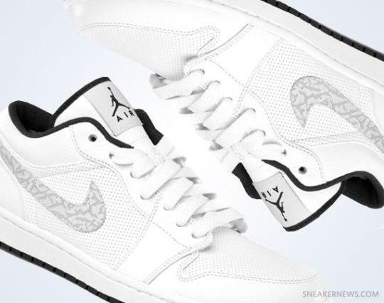 Air Jordan 1 Phat Low – White – Anthracite