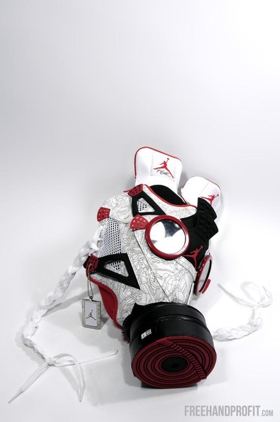Air Jordan Fusion 4 Gas Mask by Freehand Profit - SneakerNews.com bd0eef313e69