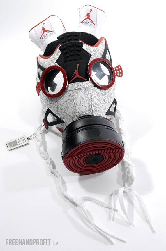 Air Jordan Fusion 4 Gas Mask by Freehand Profit - SneakerNews.com afd600952