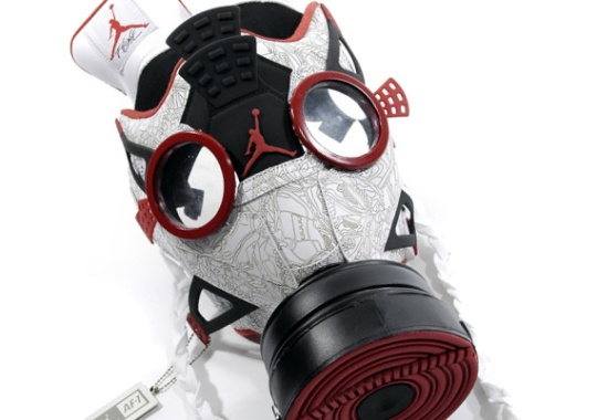 Air Jordan Fusion 4 Gas Mask by Freehand Profit