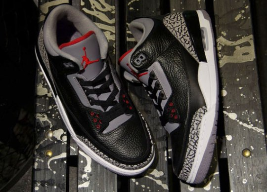 Air Jordan III – Black – Cement | Arriving @ Asia Retailers