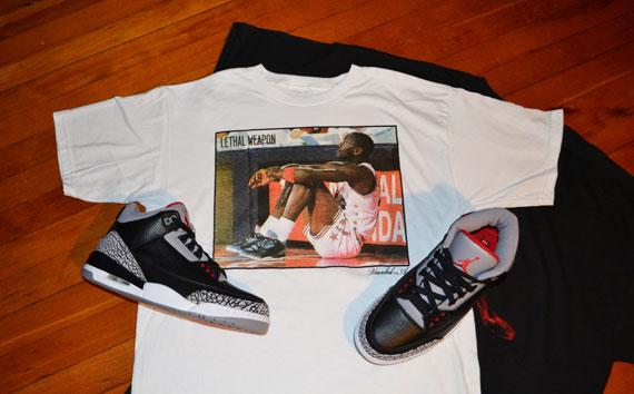 0430e43fdd3104 Air Jordan III Black Cement T-Shirts By Vandal-A - SneakerNews.com