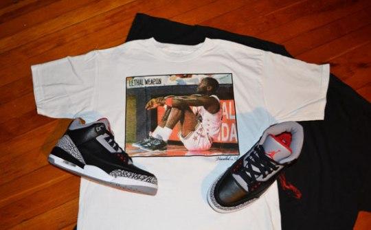 Air Jordan III Black/Cement T-Shirts By Vandal-A