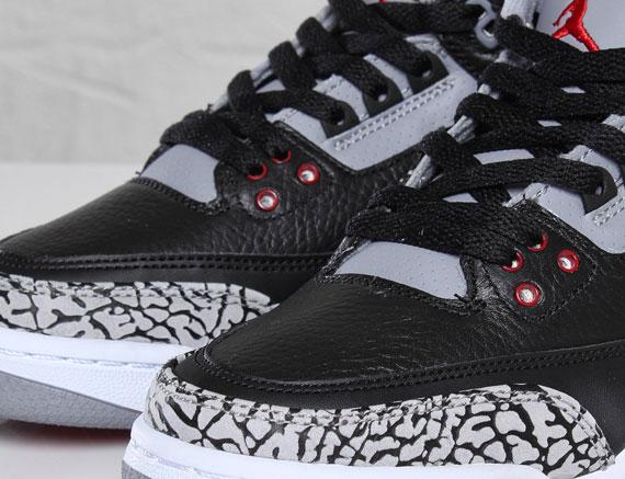 934d1e17a91 Air Jordan III Retro GS - Black - Cement - SneakerNews.com