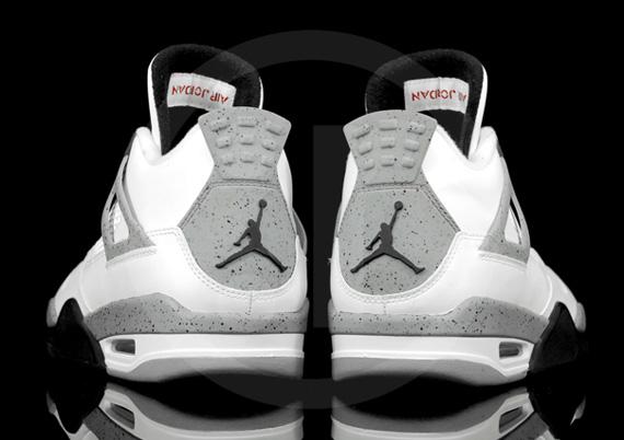 Air Jordan De Ciment Blanc 4 Iv Idem
