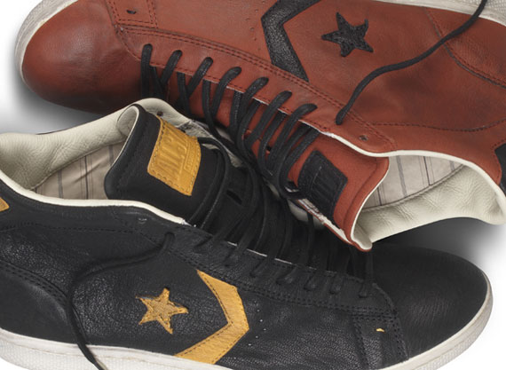 Converse by John Varvatos : brown leather 'Pro' mid top