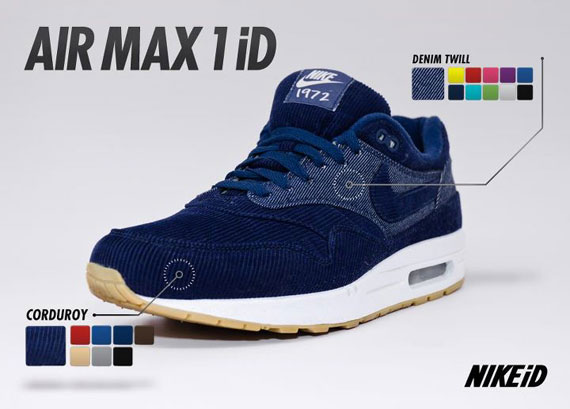 new style 74887 e8d01 Nike Air Max 1 iD – Corduroy Material