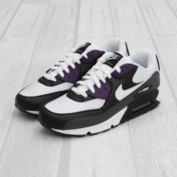 purple black and white air max 90