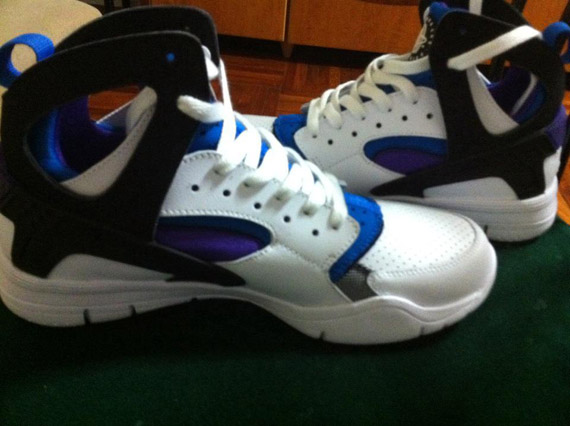 Nike Huarache White And Blue