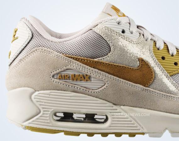 nike air max 90 gold metallic