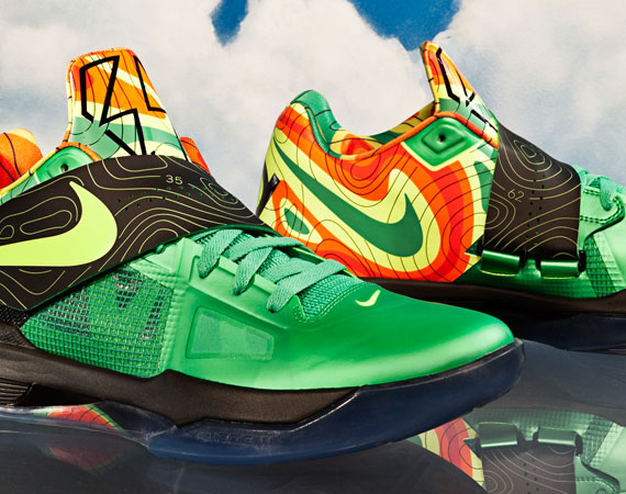 Nike zoom kd iv 39 weatherman 39 release date for Kevin durant weatherman shirt