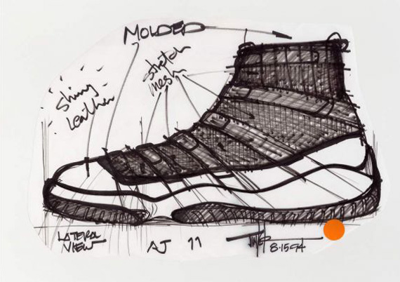 sports shoes ba8d2 80811 Air Jordan XI Original Sketches By Tinker Hatfield