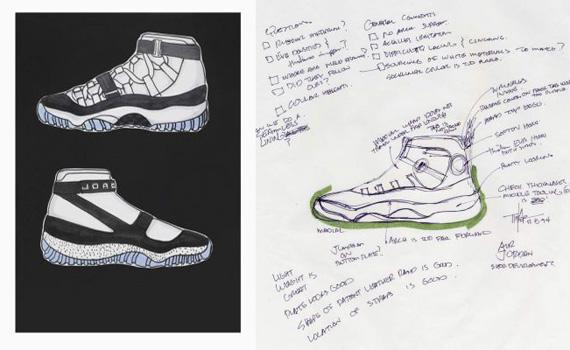 Air Jordan XI Original Sketches By