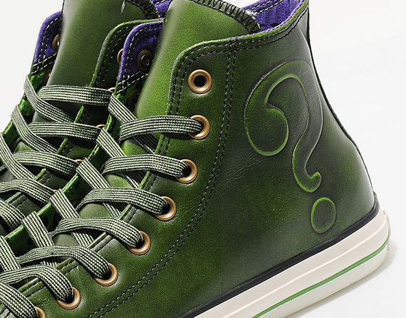 green leather converse