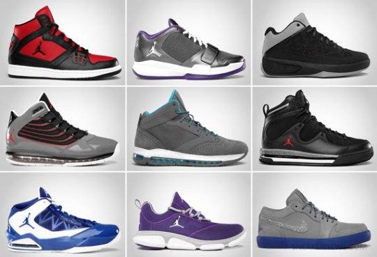Jordan Brand February 2012 Footwear