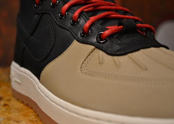 Nike Air Force 1 Chaussure De Canard Voile Kaki Noir