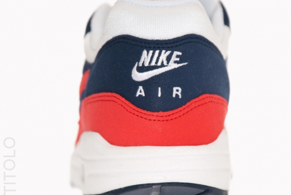 finest selection 2570f 4a77c Nike Air Max 1. Midnight Navy Action Red-White-Neptune Blue 308866-405.  Advertisement