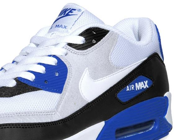 42e306252161 Nike Air Max 90 - White - Grey - Black - Blue - SneakerNews.com