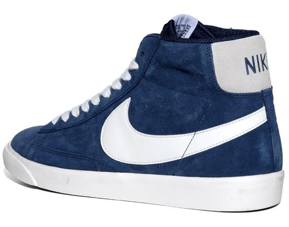 blue nike blazers high