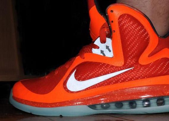 43b1c6b77b4 Nike LeBron 9  Big Bang  - On-Foot Images - SneakerNews.com