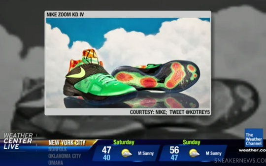 Nike Zoom KD IV 'Weatherman' Featured On The Weather Channel