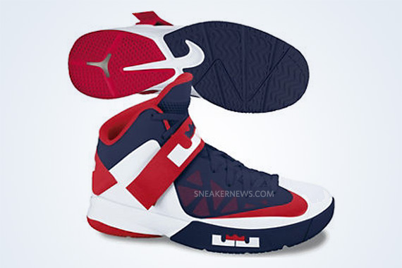 New Arrival 2015 Nike Zoom Soldier VI 6 Red White Lebron Soldier