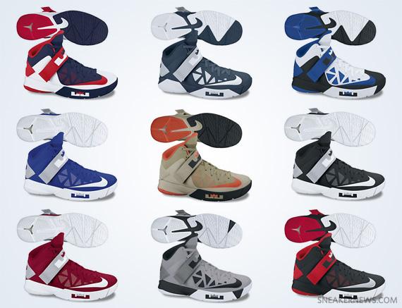 Nike Zoom LeBron Soldier VI - Colorways