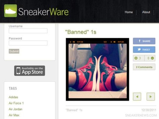 SneakerWare Website Update