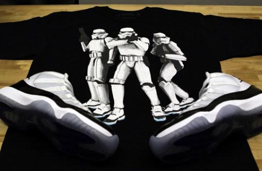 Air Jordan 'Concord Trooper' T-Shirts by Vandal-A