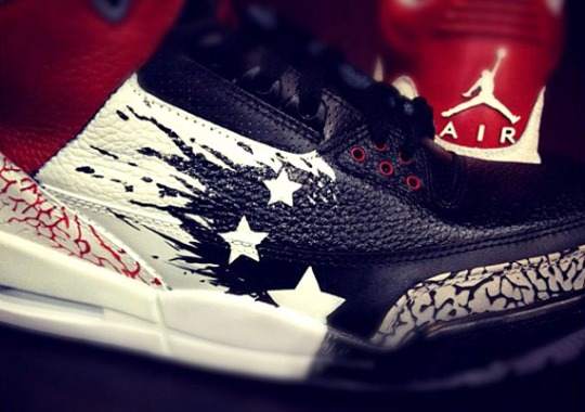 Air Jordan III 'Dave White' Customs by Mache