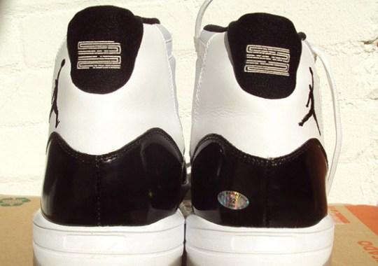 Air Jordan XI 'Concord' Cleat – Game-Worn C.C. Sabathia PE
