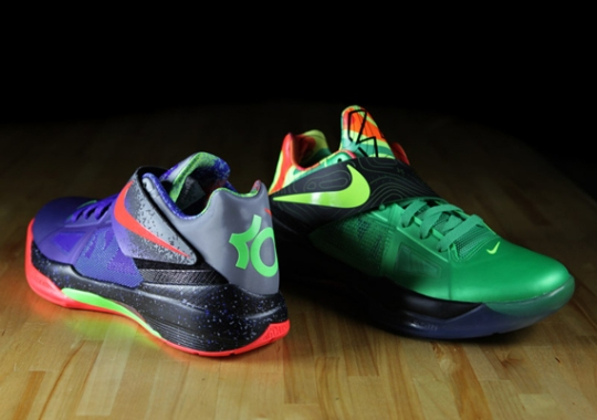 Nike Zoom KD IV 'Nerf' & 'Weatherman' Comparison