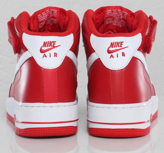 Air Force 1 Mid Alle Røde Hvite Nike 7pjbApXDm